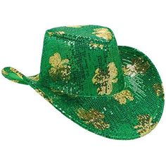 St. Patrick s Day Sequined Cowboy Hat Costume Party Head ... https   a34cb49229b4
