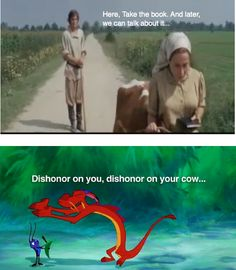 Oh, the wisdom of Mushu. Fiddler on the Roof