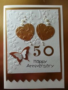 50th anniversary card by Connie of PA