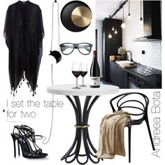 Untitled #6 by andreea-bota on Polyvore featuring polyvore, interior, interiors, interior design, home, home decor, interior decorating, Flos, Pieces and Dsquared2