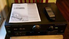 Technics SA-DX750 A/V Receiver with Remote Copy of Manual #Technics