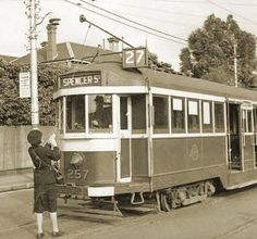 Conductress changing the trolley pole on class tram no 257 at Hawthorn… Australia Day, Victoria Australia, Melbourne Australia, Australia Travel, Melbourne Tram, Melbourne Suburbs, Old Pictures, Old Photos, Olympic Venues