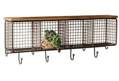 One Kings Lane - The Cozy Kitchen - Large Wire Mesh Four Square Cubbies
