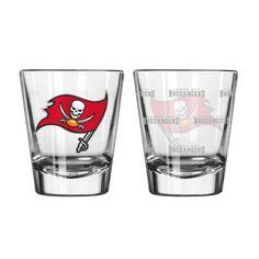 Tampa Bay Buccaneers Shot Glass - 2 Pack Satin Etch