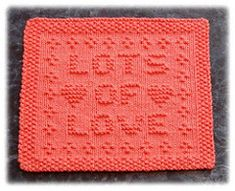 Lots of Love Dishcloth pattern by Rachel van Schie                                                                                                                                                                                 More