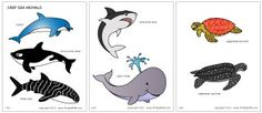 Download the Colored Deep Sea Animals Template