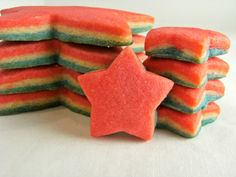 tri-colored cookies