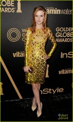 Madisen Beaty in a Lorena Sarbu dress with Rupert Sanderson shoes.