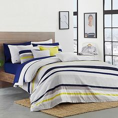 infuse bold color and modern style into your bedroom with the trimaran duvet cover set from