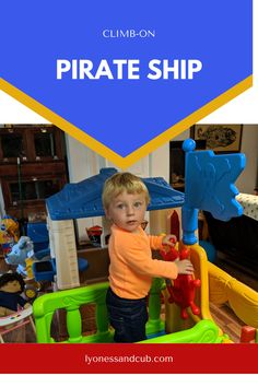 [Ad] His LBN Crawl & Climb Pirate Ship was THE attraction in our basement and in the yard. You can anchor it in the ground for added safety outside. It is very sturdy and withstands one toddler's climbing around. It has a sail, a steering wheel, a pirate flag, and a relief parrot. The back has a ladder. Underneath is a cabin to hide in. And the best thing: no tools or screws needed at all; everything just snaps together, so you can easily carry it around and set it up in different places. Toddler Climbing, Small Baby, Toddler Toys, Ladder, Parrot, Pirates, Anchor, Attraction, Basement
