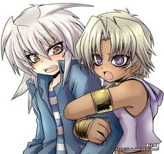 """Bakura: """" Leave me alone!!""""   Marik: """" No!! You are my only friend!!"""""""