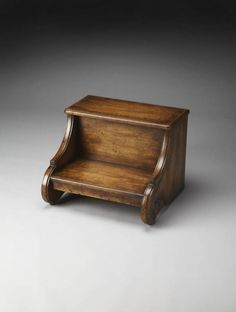 Shop Artists Originals Sussex Traditional Medium Brown Wood Step Stool with great price, The Classy Home Furniture has the best selection of to choose from Fairy Doors On Trees, Small Woodworking Projects, Wooden Stools, Pink Zebra, Brown Wood, Medium Brown, Rustic Furniture, Traditional, The Originals