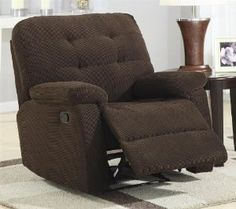 Amazon.com: Corduroy Traditional Chocolate Fabric Rocker Recliner - coaster 600190: Home & Kitchen