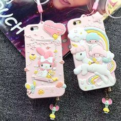 Just in to our phone case collection! Kawaiiiii :3  My Melody Little Twin Stars Soft Iphone Case 6 6s 6 Plus