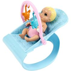 Barbie Nursery Playset with Skipper Babysitters Inc. Doll, 2 Baby Dolls, Crib and 10 Pieces of Working Baby Gear and Themed Toys, Gift Set for 3 to 7 Year Olds, Mattel Barbie, Baby Barbie, Baby Dolls, Barbies Dolls, Fisher Price, Accessoires Barbie, Barbie Doll Accessories, Play Gym, 2nd Baby