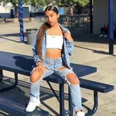 baddie outfits with leggings Teenage Outfits, Teen Fashion Outfits, Outfits For Teens, Girl Fashion, Girl Outfits, Cute Swag Outfits, Dope Outfits, Trendy Outfits, Summer Outfits
