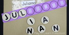 Easy Do-It-Yourself Name Activities for Preschoolers Name Activities Preschool, Name Writing Activities, Preschool Family, Preschool Literacy, Preschool Lessons, Alphabet Activities, Language Activities, Learning Activities, Preschool Activities