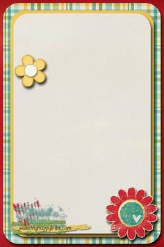 February 2015 VT Handout from My Happy Tribe -- blank card