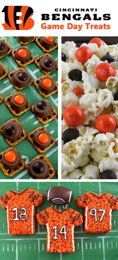 If you are a Cincinnati Bengals fan and it is Game Day, you'll want to make one (or all) of our Cincinnati Bengals Game Day Treats for your football watching family members. These are fun Orange and Black football desserts that are perfect for a game day football party, an NFL playoff party or (hopefully!!!) a Super Bowl party. Follow us for more fun Super Bowl Food Ideas.