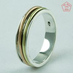 LIGHT WEIGHTED ELEGANT LOOK 925 STERLING SILVER SPINNER RING,R5983 #SilvexImagesIndiaPvtLtd #Spinner #AllOccasions