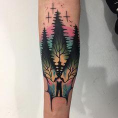 Tattoo artist Giena Todryk authors color surrealistic tattoo