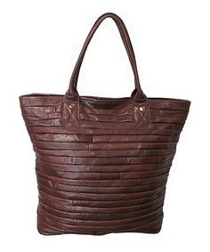 This Maple Brown Rozaly Leather Tote by Amerileather is perfect! #zulilyfinds