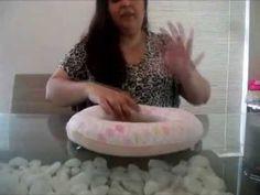 Vídeo Ensinando como fazer a Base da Guirlanda em Feltro e tecido Artes em Feltros by Juliana Cwikla