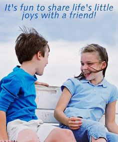 It's fun to share life's little joys with a friend Friendship Messages, Friends Forever, Joy, Life, Inspirational, Cards, Glee, Being Happy, Maps