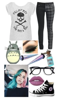"""""""Untitled #364"""" by rainy-kat ❤ liked on Polyvore featuring Converse and Lime Crime"""
