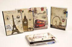 libreta y bolígrafo vintage