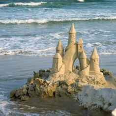 Castle in the sand...'Pillars of terror, enslave the landscape, dried crustacean soldiers, guard the driftwood drawbridge. Oyster shell knights, sentries on pipi horses, ready to protect, the starfish queen. Soaring through the air, comes a fluorescent volleyball, the security is no match, the sandcastle is no more.' – 'Sandcastle' (wattpad)