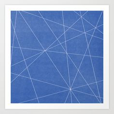 Geometric Blue Art Print by Lindsay Erin Pasichnyk - $14.00