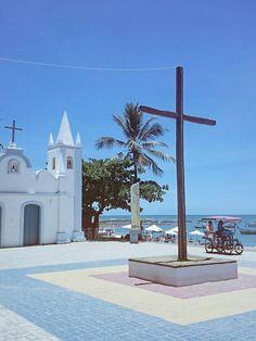 Praça São Francisco, Praia do Forte, Bahia, Brasil.