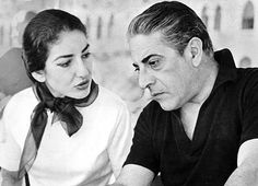Marie Callas and Aristotle Onassis