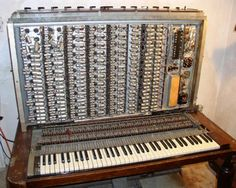The first commercially available synthesizer was designed by the Hammond Organ Company in 1938 and put into full production from 1938 to 1942. The Novachord is a gargantuan, all tube, 72 note polyphonic synthesizer with oscillators, filters, VCAs, envelope generators and even frequency dividers.