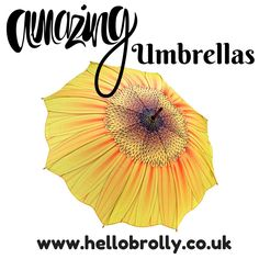 HelloBrolly.co.uk sells stunning umbrellas. We sell some amazing designs like this Sunflower Kiss umbrella, alongside Heart, Petal, Square and Pagoda shaped umbrellas. Come and take a look.