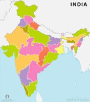 india states outline map