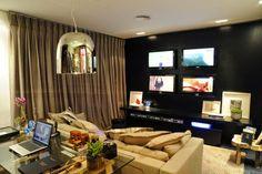 30 Salas com home offices integrados – veja modelos inspiradores e dicas! - Decor Salteado - Blog de Decoração e Arquitetura