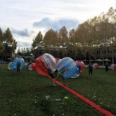 Did you ever hear of or play bubble soccer? If not, head over to the GooglePlex, Google's headquarters in Mountain View, California, and get into one of the games.  Google shared this photo of Googler