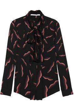 Diane von Furstenberg|New Edde printed stretch-silk blouse|NET-A-PORTER.COM