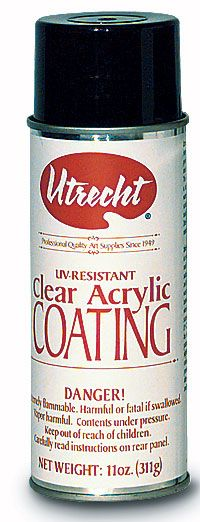 Save On Discount Utrecht UV Resistant Clear Acrylic Coating Spray Varnish for Drawing/Painting & More at Utrecht...this is most likely glossy. Want to try glossy, but do prefer the matte finish spray. Just want to see how much it is truly uv resistant.