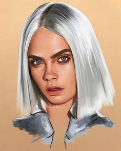 It's finally done☺️☺️☺️ I did a new thing and I decided to do her hair digitally and it turned out how I wanted and it was so fun doing it for the first time. I also used faber castell polychromos for her face. I hope you like it and please tag @caradelevingne ♥️ #caradelevingne #fanart #drawing #painting