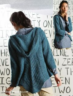 hooded cardigan knitting patterns - Google Search