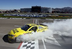 25. Kobalt Tools 400 Las Vegas Motor Speedway March 10, 2013  His third win at LMVS gave Kenseth plenty of practice to perfect his burnout. This would mark his first win with Joe Gibbs Racing after transitioning from RFR.  --  All of Matt Kenseth's Sprint Cup Series victories | Photo Galleries | Nascar.com