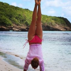 """""""#handstands on the beach #tgif #mustique"""" Photo taken by @pinkhousemustique on Instagram, pinned via the InstaPin iOS App! http://www.instapinapp.com (01/30/2015)"""