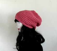 Slouchy Beanie Dusty Pink Slouchy Beanie Slouchy by recyclingroom, $34.00