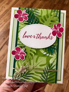 Stampin' Up! Tropical Chic stamp set. Fantastic Tropical Escape Bundle!