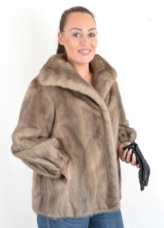 US2811 TRENDY GRAY FARMER MINK FUR JACKET COAT SIZE 2XL - NERZJACKE PELLICCIA #Handmade #FurJacket Mink Jacket, Mink Fur, Coat, Jackets, Down Jackets, Sewing Coat, Peacoats, Coats, Jacket
