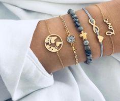 Buy MINHIN Punk Turtle Map Love Heart Crystal Beads Charm Bracelet for Women Multilayer Pendant Gold Bracelet Set Drop Shipping Bohemian Bracelets, Love Bracelets, Fashion Bracelets, Boho Jewelry, Bangle Bracelets, Jewelry Gifts, Fashion Jewelry, Women Jewelry, Wedding Jewelry
