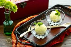Homemade pineapple sorbet made with golden sweet pineapple blended with banana and a splash of Cointereau. Pineapple Sorbet, Pineapple Desserts, Pineapple Recipes, Pineapple Coconut, Fruit Recipes, Summer Recipes, Dessert Recipes, Easy Japanese Recipes, Japanese Food
